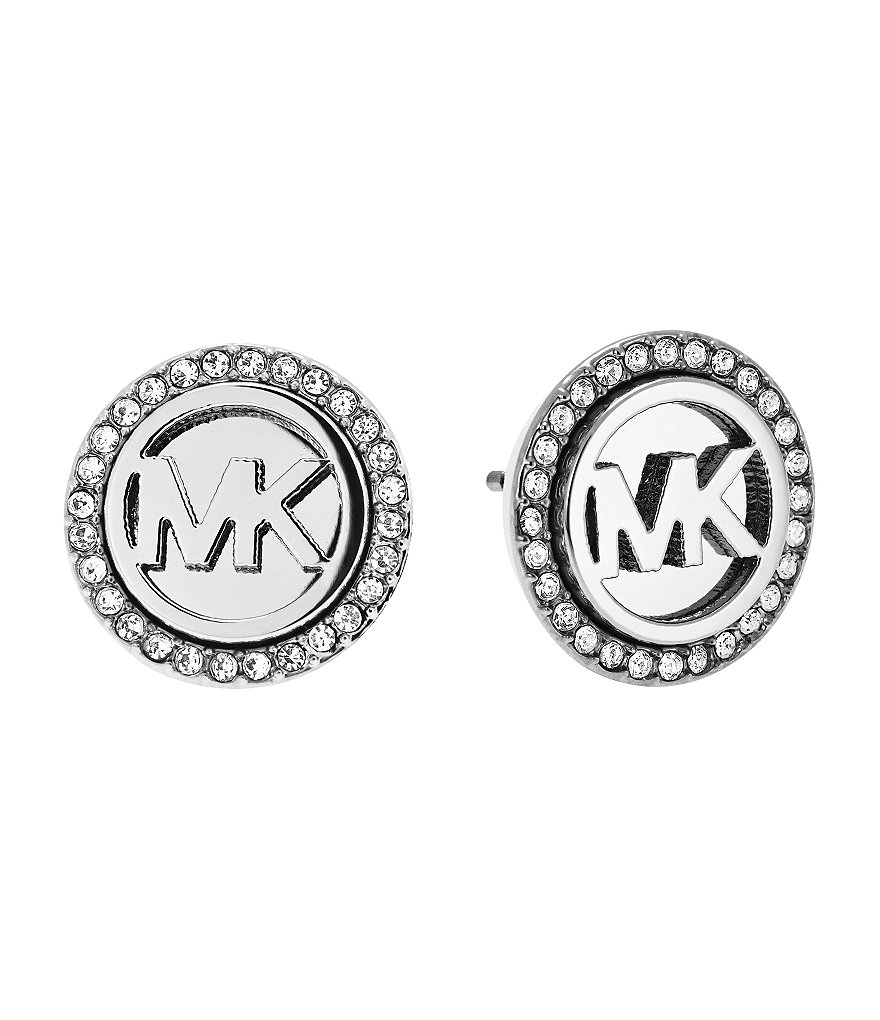 Michael Kors MK Monogram Pav� Crystal Stud Earrings