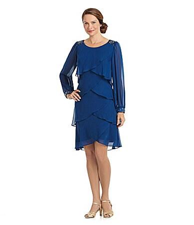 shop all s l fashions s l fashions tiered artichoke dress print wanelo ...