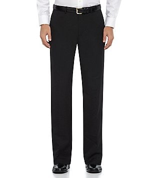 Calvin Klein Regular-Fit Flat-Front Classic Twill Pants