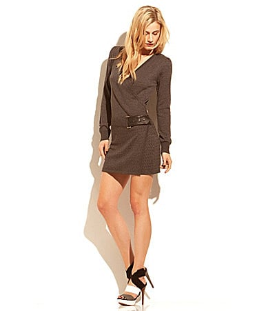 Laundry by Shelli Segal Faux-Wrap Sweater Dress