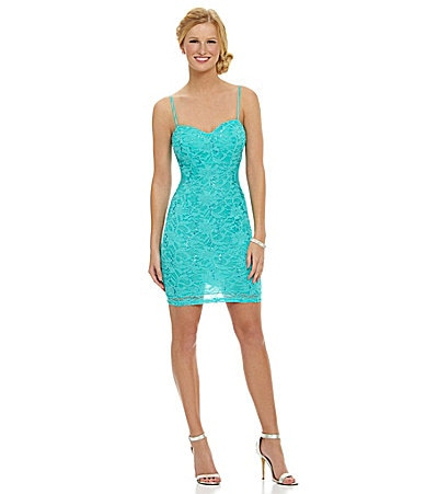 B. Darlin Lace Illusion Sheath Dress $ 79.00