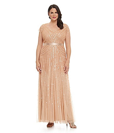 Adrianna Papell Woman Beaded Gown