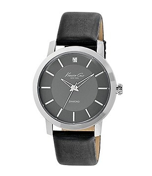 Kenneth Cole New York Rock Out 3 Hand Black Leather Strap Watch