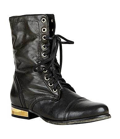 Jtroopa black leather – steve madden.