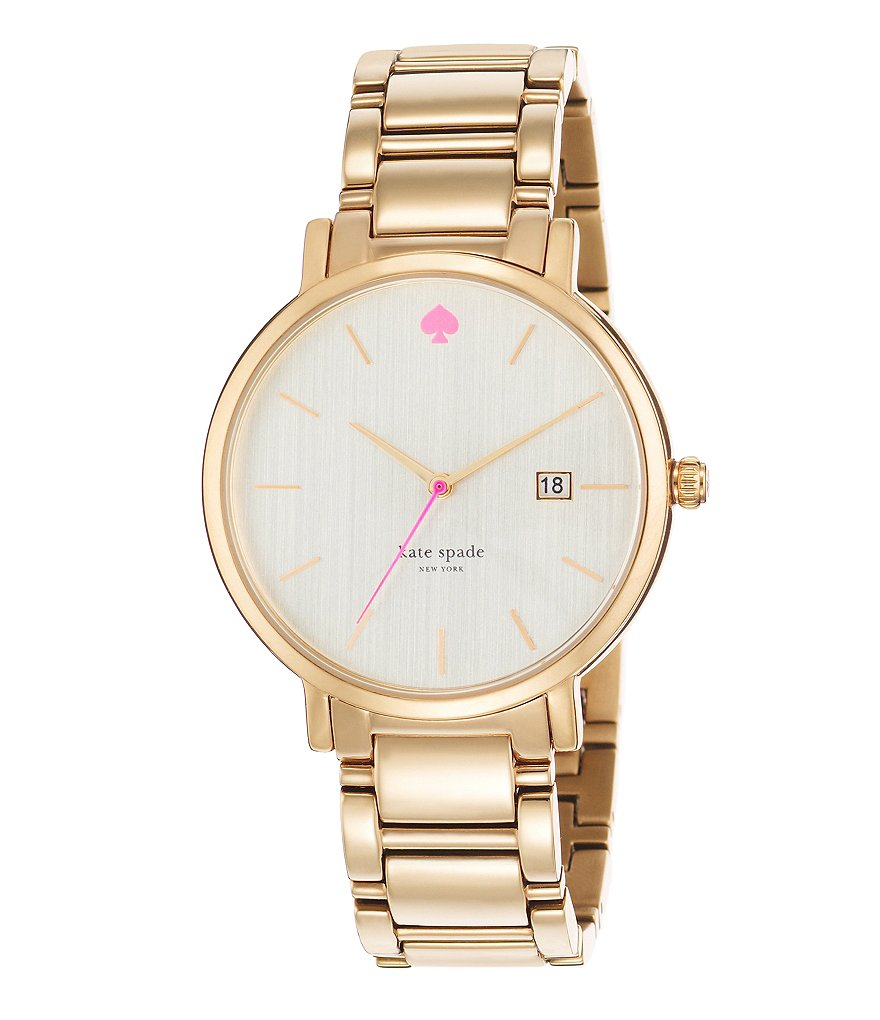 kate spade new york Gramercy Grand Gold Stainless Steel Bracelet Watch