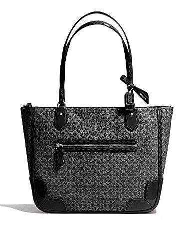 COACH POPPY SMALL TOTE IN SIGNATURE C METALLIC OUTLINE FABRIC