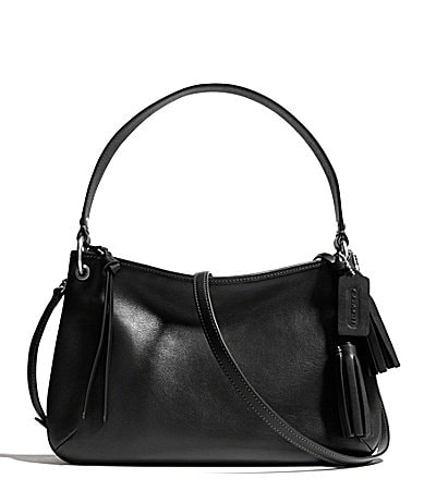 COACH LEGACY DOUBLE GUSSET CROSSBODY IN LEATHER