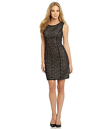 M.S.S.P. Jacquard Sheath Dress