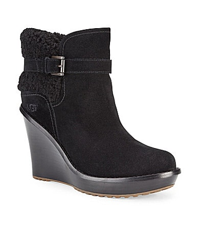 UGG Australia Anais Suede Wedge Boots