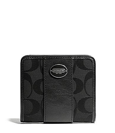 COACH LEGACY SMALL WALLET IN SIGNATURE FABRIC