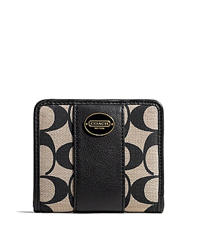 COACH SMALL WALLET IN PRINTED SIGNATURE FABRIC