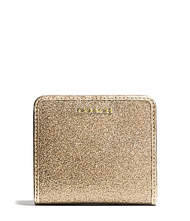COACH SMALL WALLET IN GLITTER FABRIC