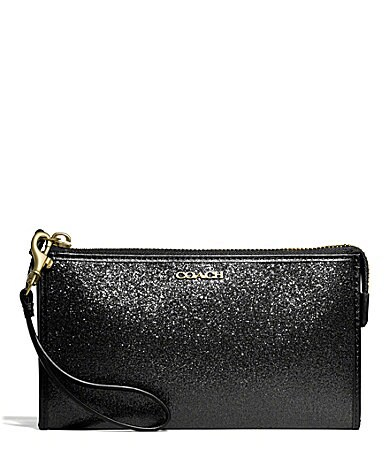 COACH ZIPPY WALLET IN GLITTER FABRIC