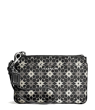 COACH WAVERLY SMALL WRISTLET IN SIGNATURE COATED CANVAS