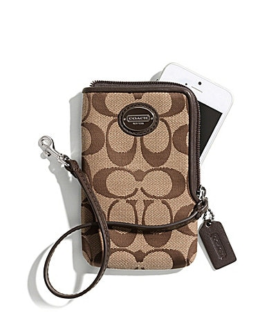 COACH LEGACY NORTH/SOUTH UNIVERSAL CASE IN SIGNATURE FABRIC