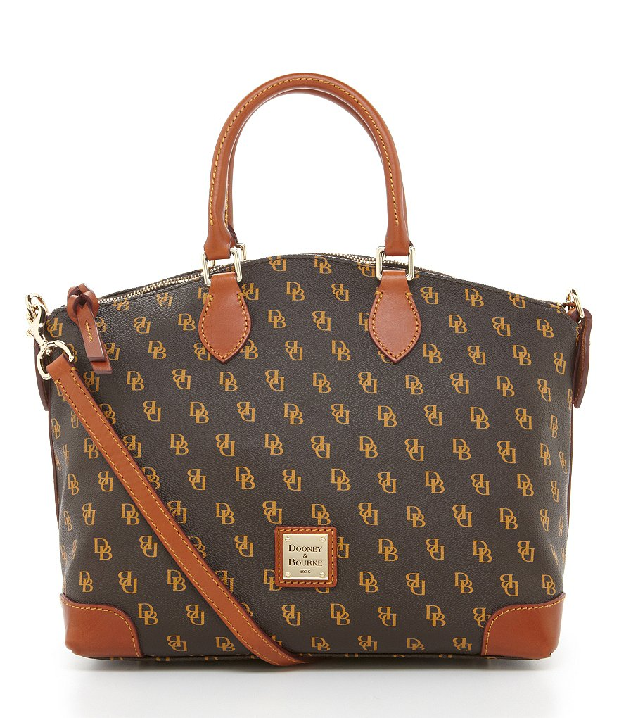 Dooney & Bourke Greta Signature Satchel
