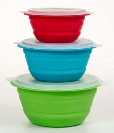 prepworks by progressive collapsible storage bowls set of 3 dillards. Black Bedroom Furniture Sets. Home Design Ideas
