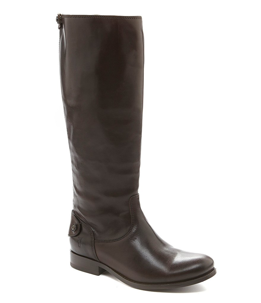 Frye Melissa Button-Back Wide Calf Riding Boots