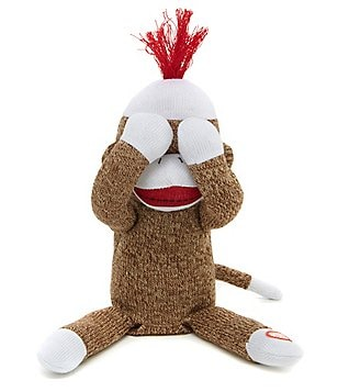 Baby Starters Sock Monkey Peek-a-Boo Toy
