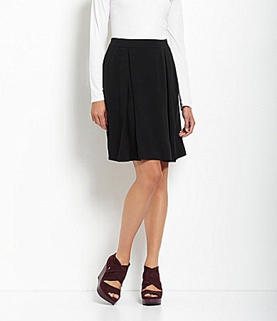 Eileen Fisher Silk Georgette Crepe Skirt