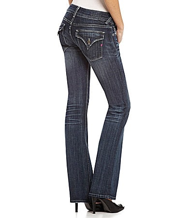 Vigoss New York Flap-Pocket Bootcut Jeans