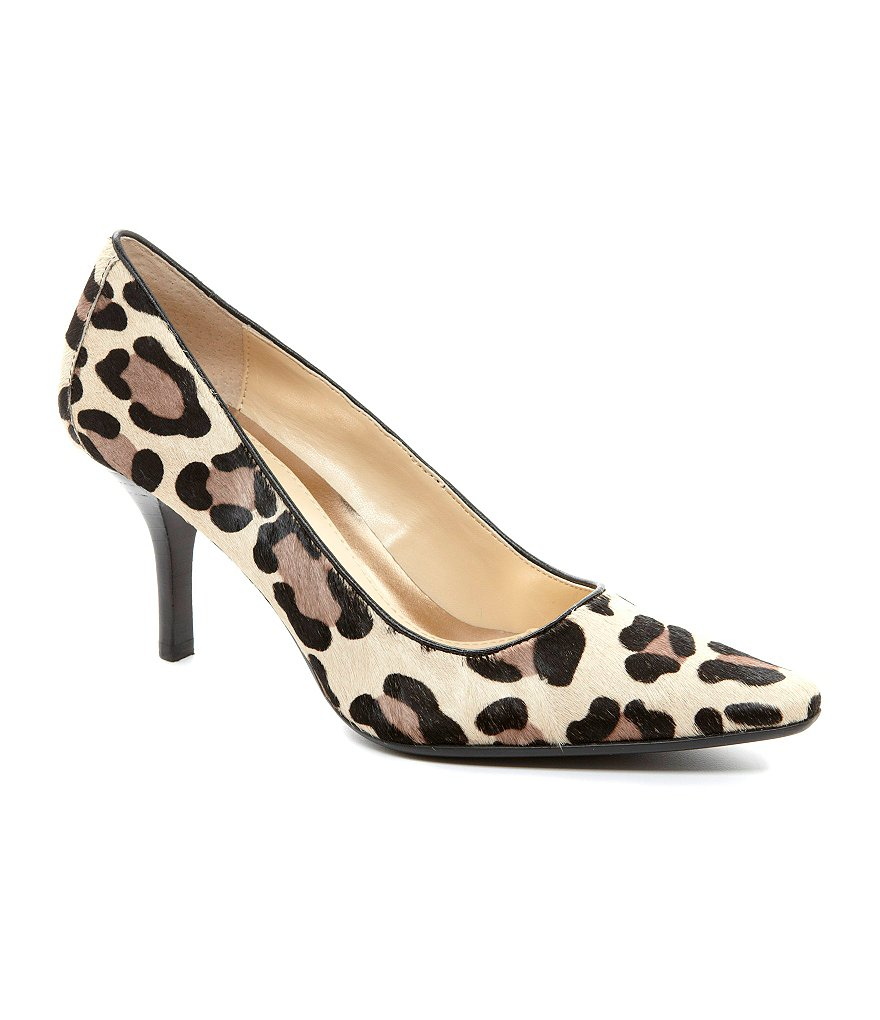 Calvin Klein Dolly Leopard Pointed-Toe Pumps