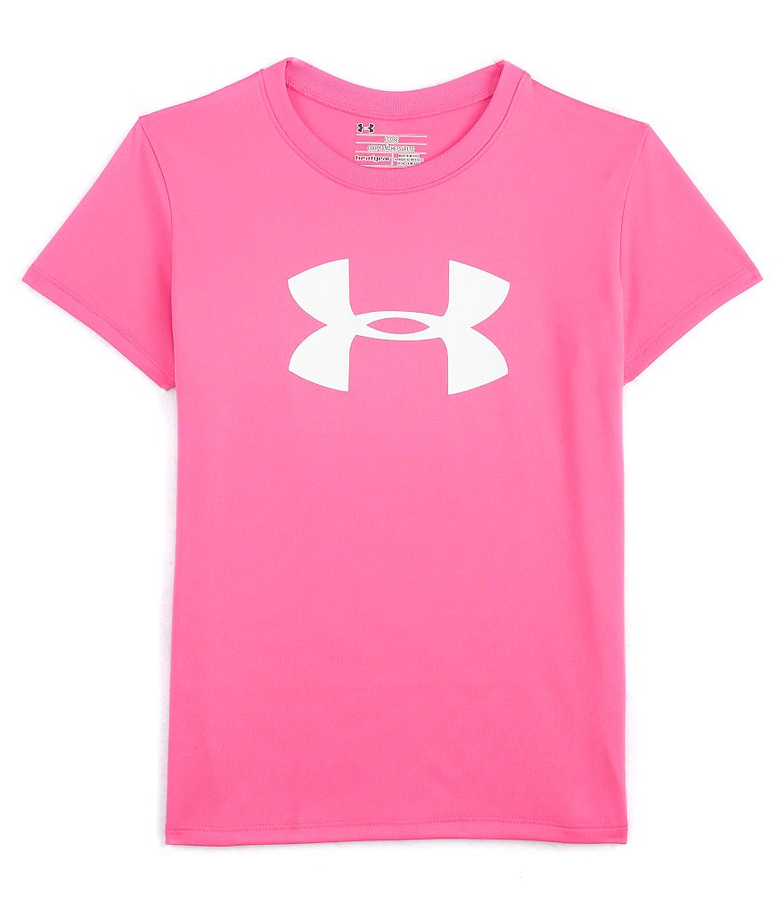 Under Armour Big Girls 7-16 Big Logo Tech Tee