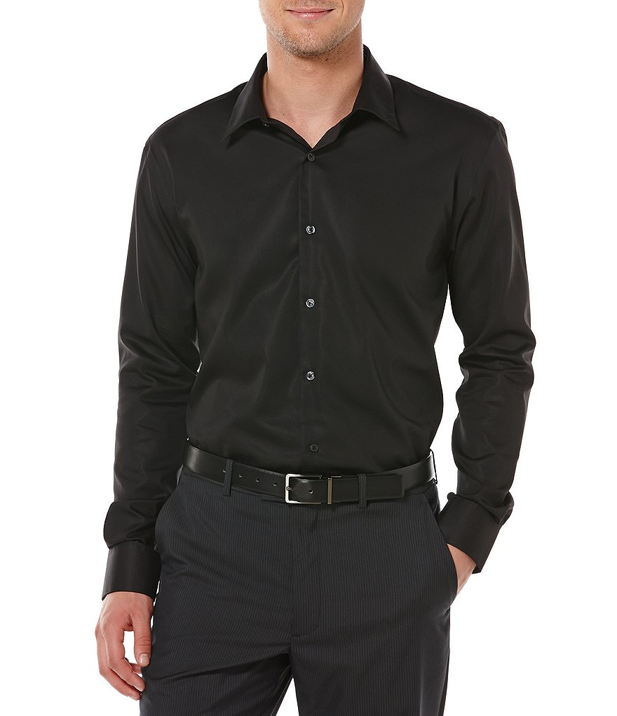 Perry Ellis Non-Iron Solid Twill Shirt