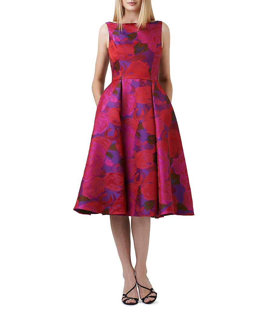 Adrianna Papell Midi Floral Dress