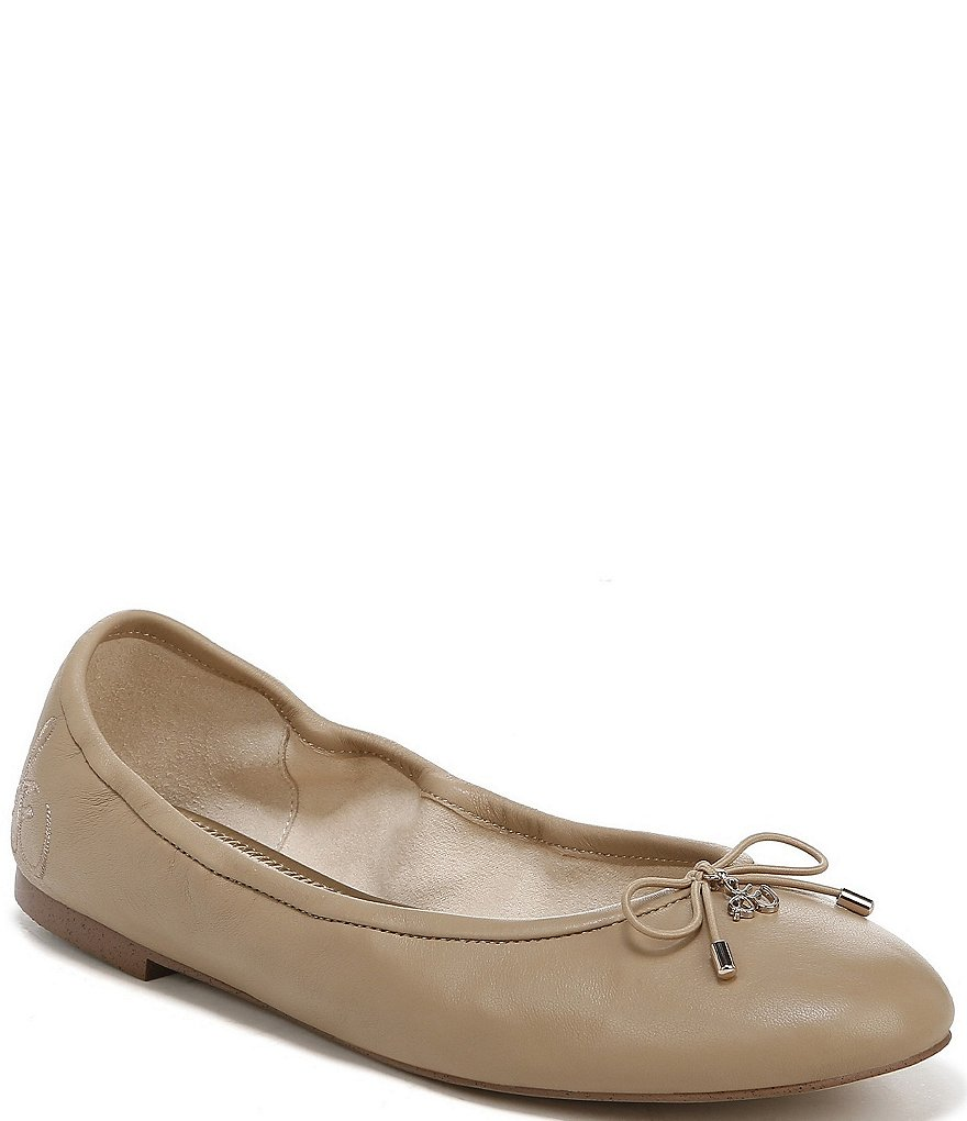 Sam Edelman Felicia Bow Detail Leather Ballet Flats
