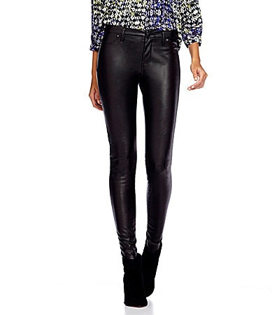 Chelsea & Violet Black Box Faux-Leather Pants