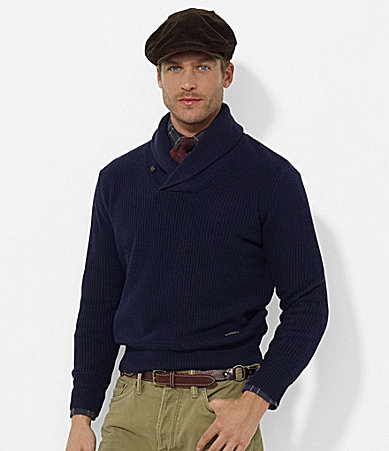 Polo Ralph Lauren Cotton Shawl-Collar Sweater