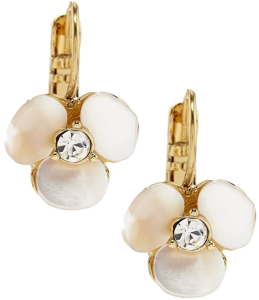 kate spade new york Pansy Drop Levar Back Mother of Pearl Earrings