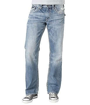 Silver Jeans Co. Zac Relaxed Straight-Fit Jeans