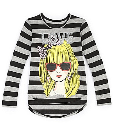 Forever Orchid 7-16 Striped Lovegirl Tai Shirt $ 7.70
