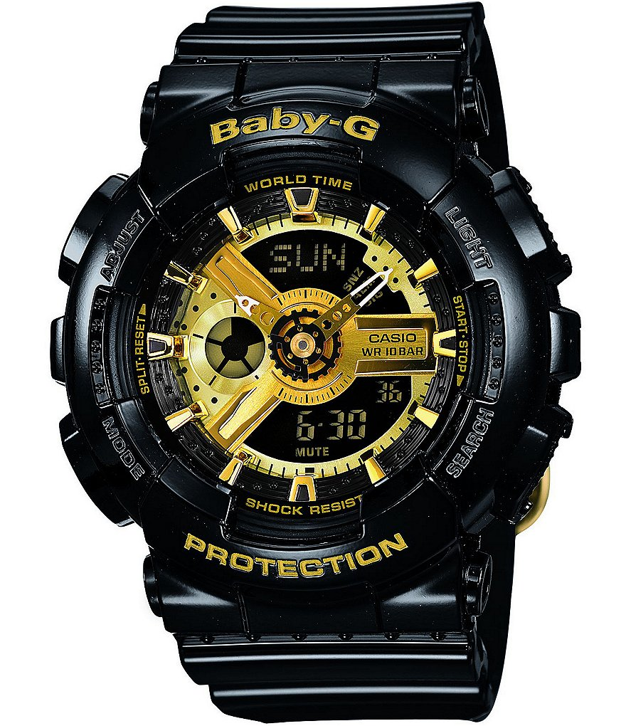 Baby-G Black Resin Multifunction World Time Watch