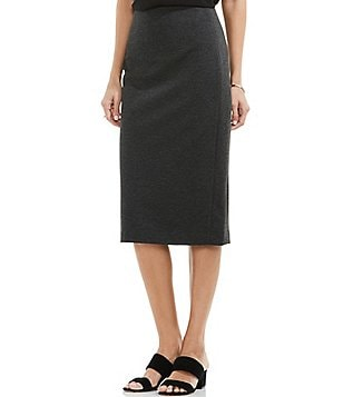 Vince Camuto Ponte Pencil Midi Skirt