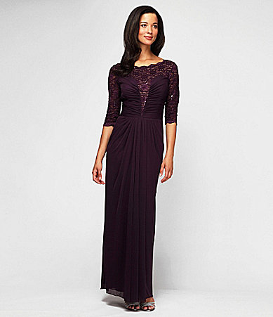 Alex Evenings Ruched Illusion Gown $ 150.00