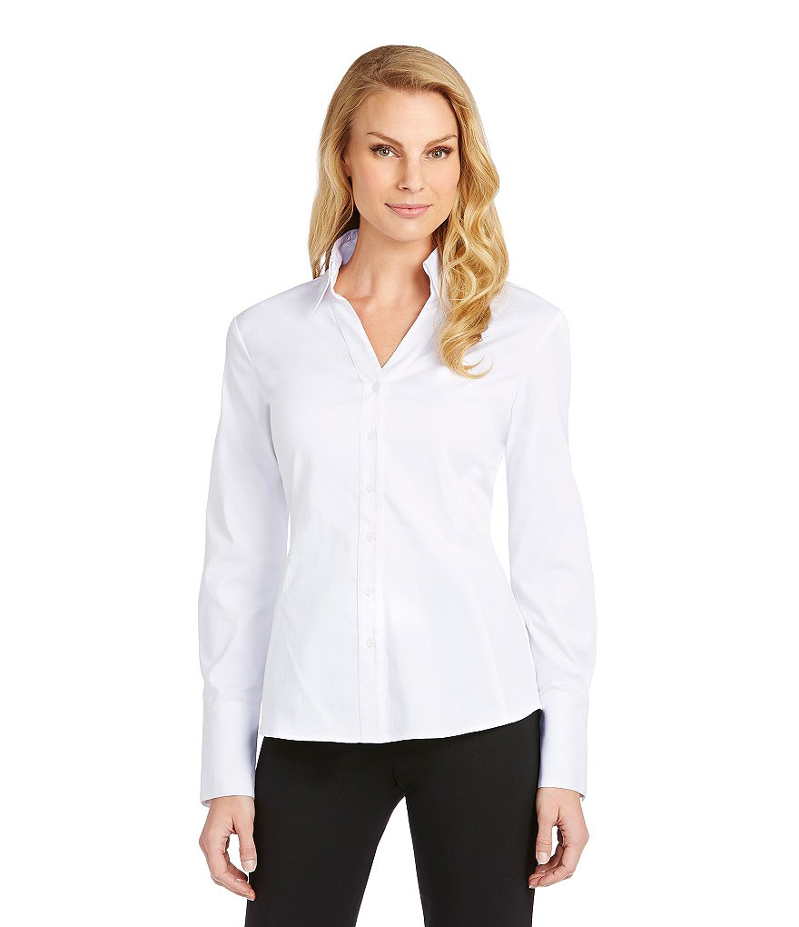 Antonio Melani Nicola Seamed Button-Front Blouse