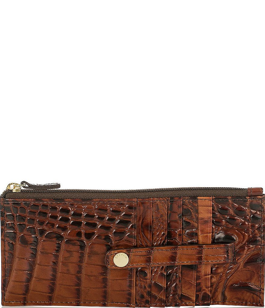 Brahmin Melbourne Collection Croco-Embossed Wallet