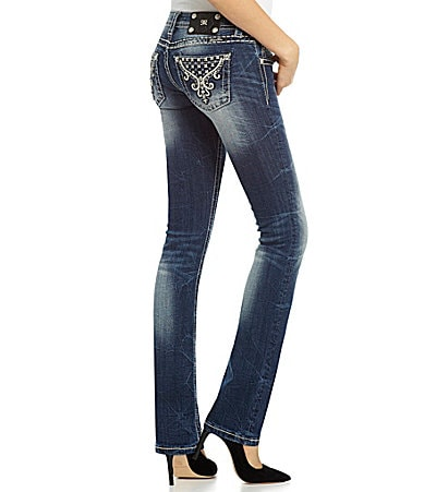 Miss Me Embellished Straight-Leg Jeans