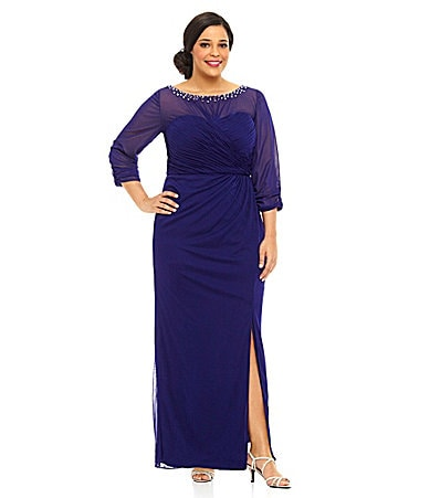 Alex Evenings Woman Beaded Ruched Gown $ 210.00