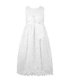 Jayne Copeland 7-12 Lace-Overlay Dress