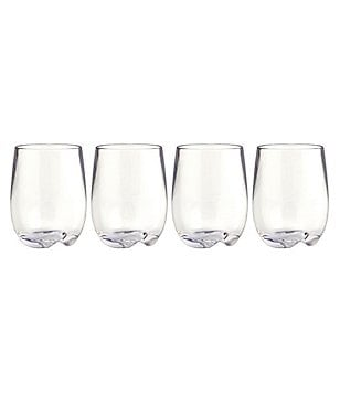 Strahl Design+Contemporary Osteria Stemless Wine Glasses, Set of 4