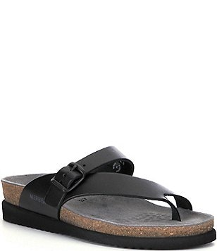 Mephisto Helen Metallic Buckle Detail Slip-On Casual Sandals