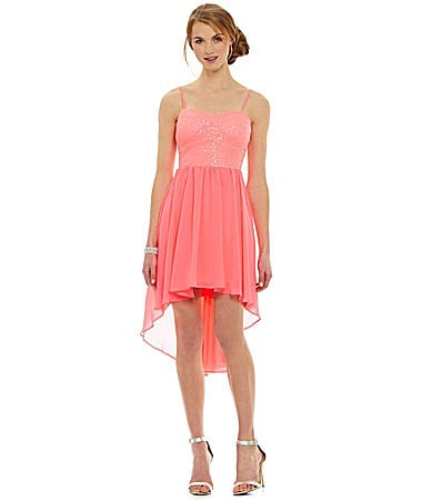 B. Darlin Spaghetti-Strap Sweetheart Hi-Low Dress $ 47.40