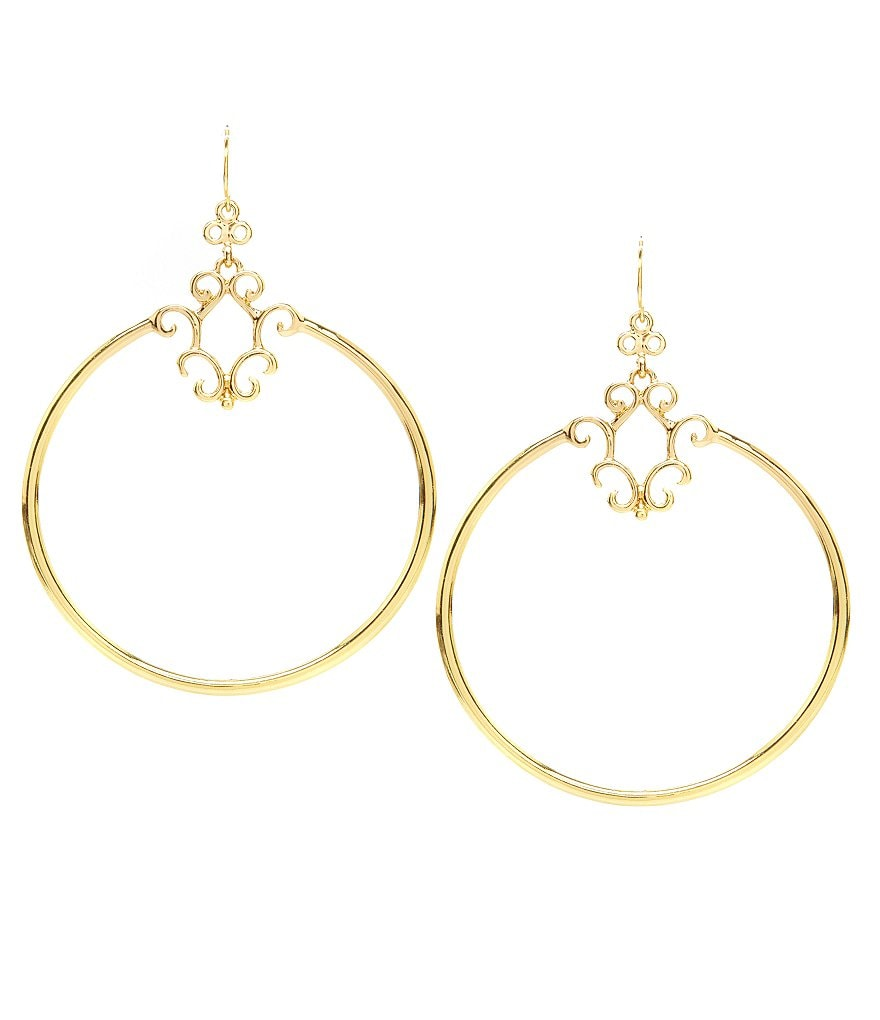 Jessica Simpson Drop Hoop Earrings