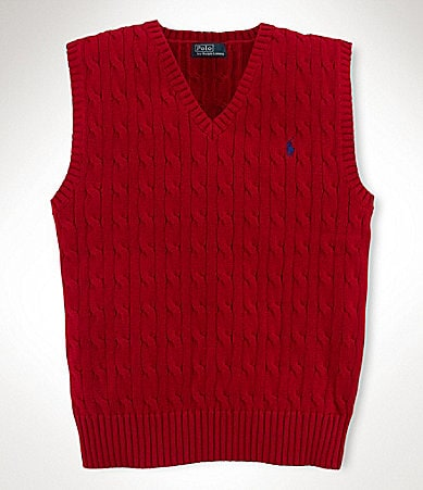 Ralph Lauren Childrenswear 8-20 Cable-Knit Vest
