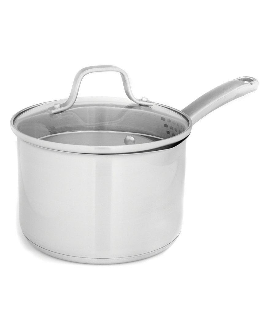 Calphalon Classic Stainless Steel 2.5-Quart Sauce Pan with Straining Lid