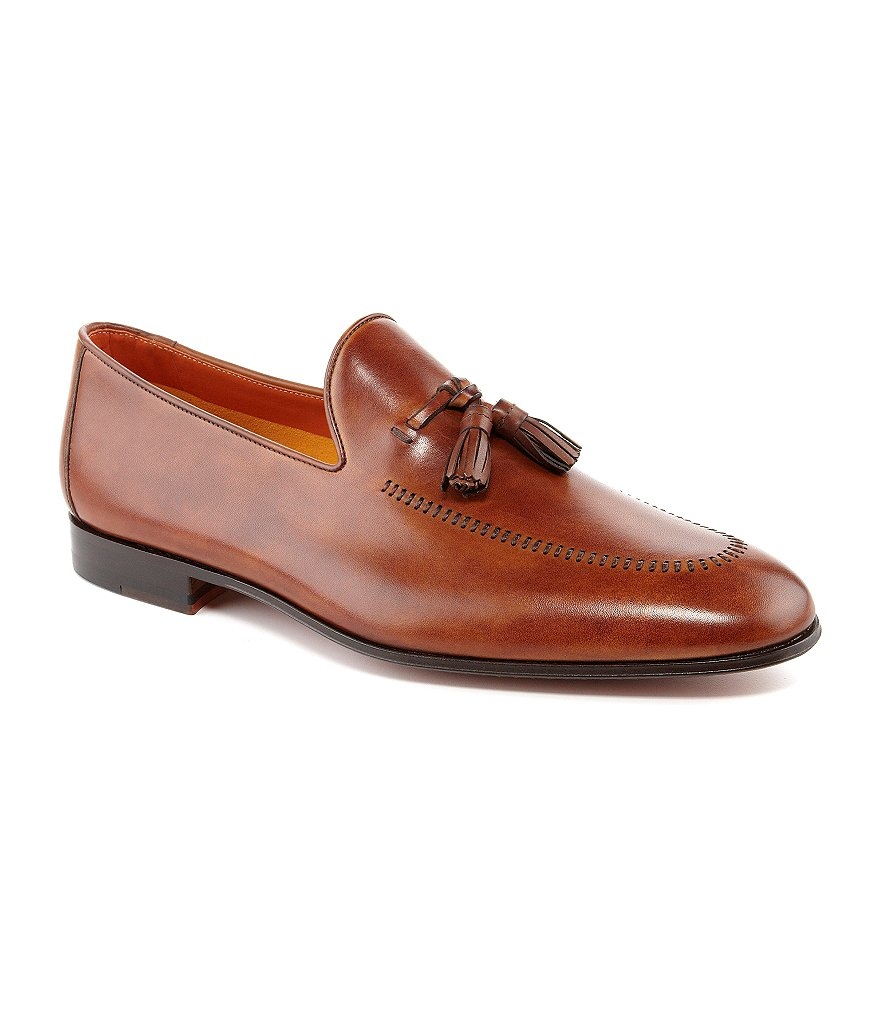 Magnanni Alberto Tassel Leather Dress Loafers